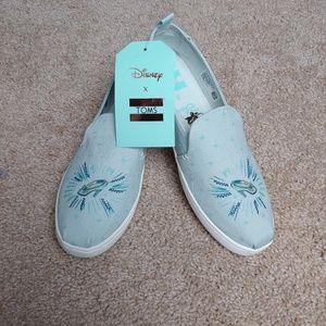 Disney x TOMS Cinderella slip on shoe